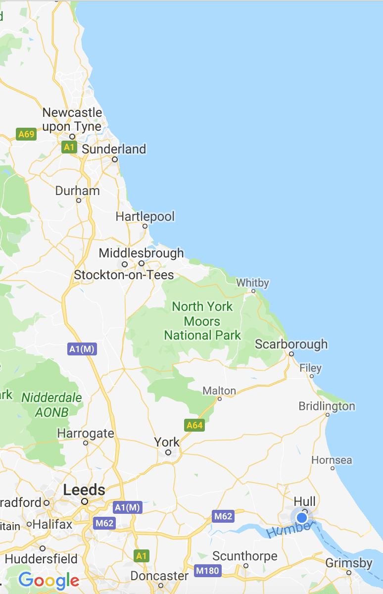 Harp Surveyors - Service Area Map
